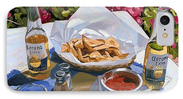 Cervezas Y Nachos - Coronas With Nachos Phone Case by Steve Simon