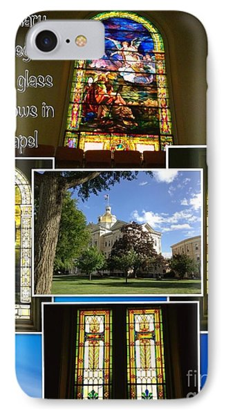 IPhone Case featuring the photograph Cetenary College Stained Glass Windows In Chapel by Becky Lupe