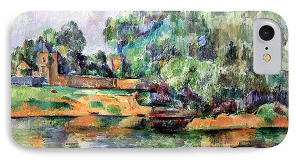 Cezanne's Riverbank IPhone Case by Cora Wandel