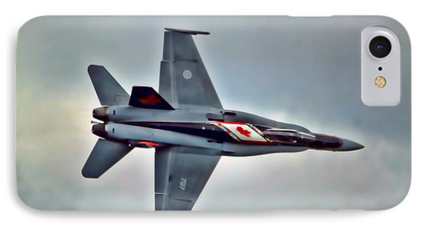 Cf18 Hornet Topview Flying IPhone Case by Cathy  Beharriell
