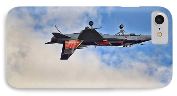 Cf18 Hornet Upside Down Fly By  IPhone Case by Cathy  Beharriell