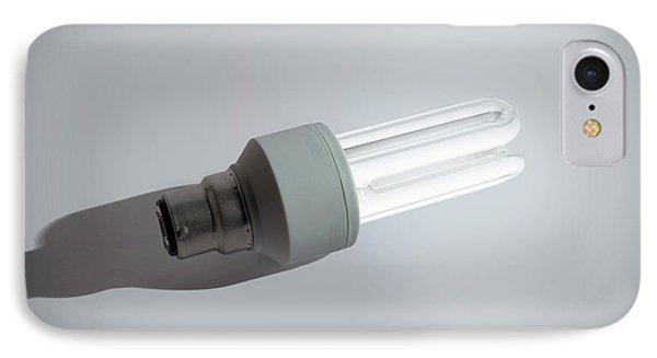 Cfl Energy Saving Bulb IPhone Case by Robert Brook