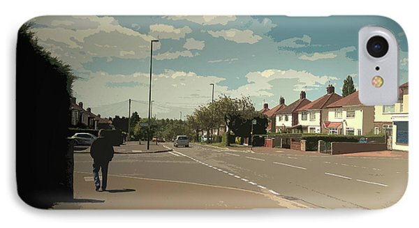 Chaddesden Park Road In Derby, Suburban Scene Pictured Here IPhone Case