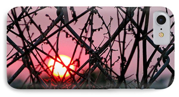 IPhone Case featuring the photograph Chain Link Sunset by Jennie Breeze