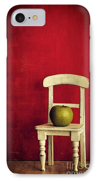Chair Apple Red Still Life Phone Case by Edward Fielding