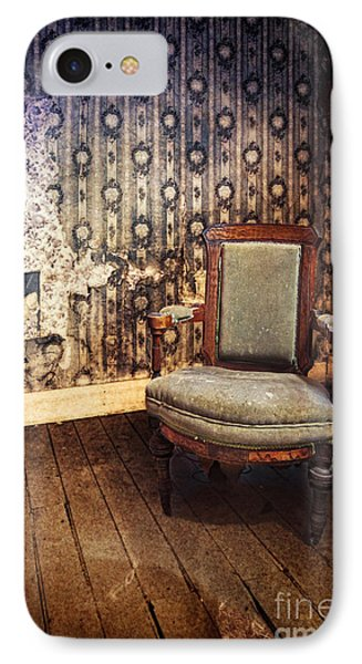Chair In Abandoned Room Phone Case by Jill Battaglia