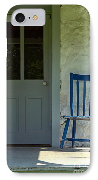 Chair On Farmhouse Porch Phone Case by Olivier Le Queinec