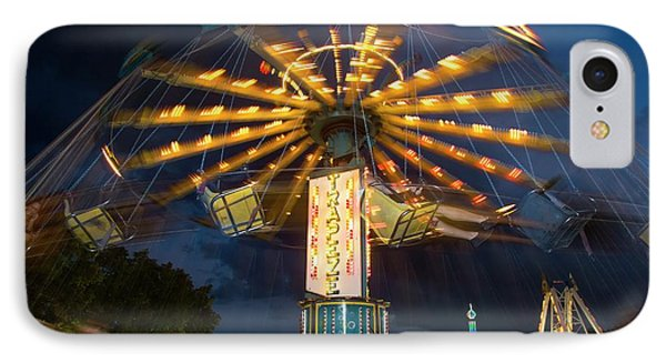 Chair Swing Fairground Ride IPhone Case by Jim West