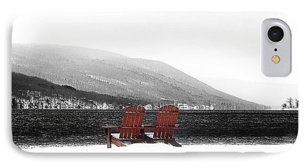 Chairs At Canandaigua Lake 2011 Phone Case by Joseph Duba