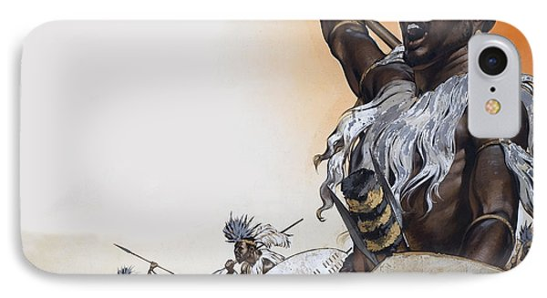 Chaka In Battle At The Head IPhone Case by Angus McBride