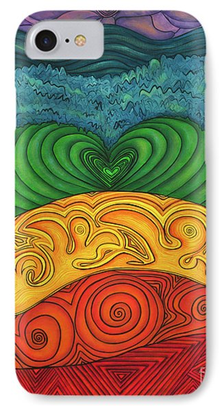 IPhone Case featuring the painting Chakra Ascension by Deborha Kerr