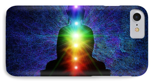 Chakra Buddha IPhone Case by Tim Gainey