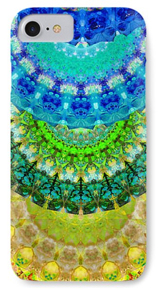 Chakra Mandala Healing Art By Sharon Cummings IPhone Case by Sharon Cummings