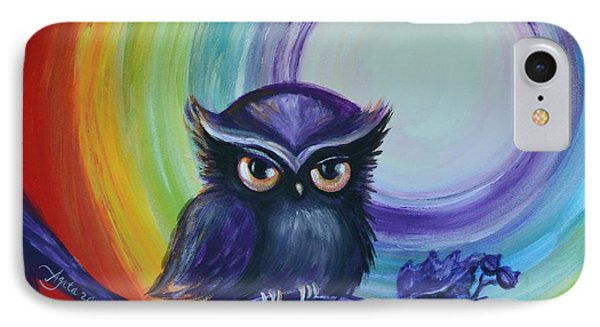 Chakra Meditation With Owl IPhone Case by Agata Lindquist