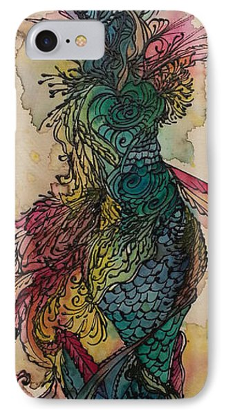 IPhone Case featuring the painting Chakra Mermaid by Christy  Freeman