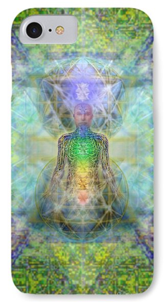 Chakra Tree Anatomy In Chalice Garden IPhone Case by Christopher Pringer