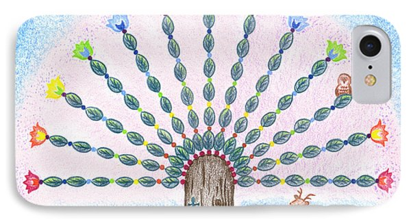 Chakra Tree Phone Case by Keiko Katsuta