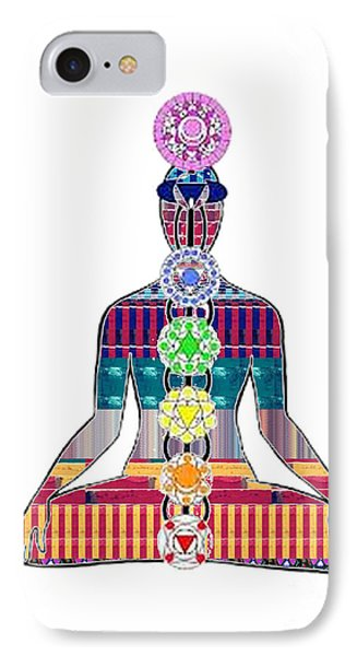 Chakra Yoga Mandala  Buy Faa Print Products Or Down Load For Self Printing Navin Joshi Rights Manage IPhone Case by Navin Joshi