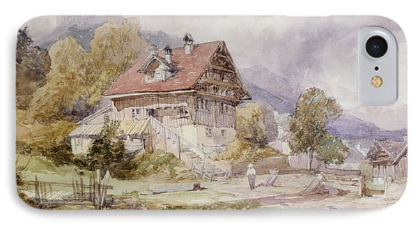 Chalet, Brunnen, Lake Lucerne IPhone Case by James Duffield Harding