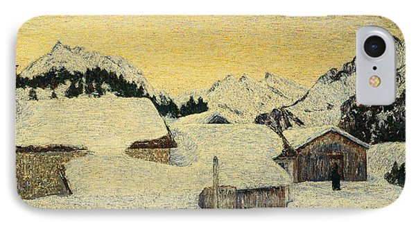 Chalets In Snow IPhone Case