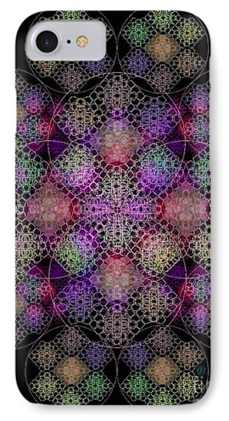 Chalice Cell Rings On Black Dk29 IPhone Case by Christopher Pringer