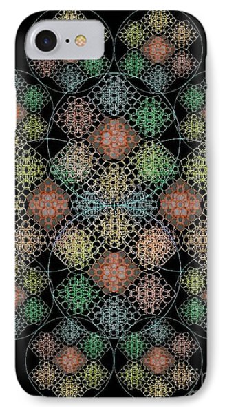 Chalice Cell Rings On Black Lt33 IPhone Case by Christopher Pringer
