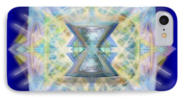 IPhone Case featuring the digital art Chalicell Matrix Rainbow Cross Of Light by Christopher Pringer