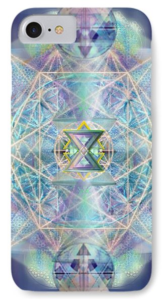 IPhone Case featuring the digital art Chalicells Electric Sparkling Vortices Of Light II by Christopher Pringer