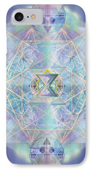 IPhone Case featuring the digital art Chalicells Electro Dynamic Vortices Of Light by Christopher Pringer