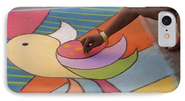 Chalk Artist IPhone Case by Juli Scalzi
