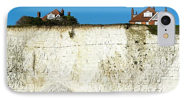Chalk Cliffs And Houses IPhone Case by Carlos Dominguez