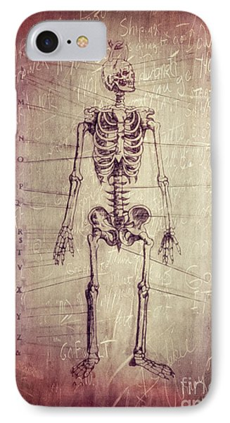 Chalkboard Skeleton IPhone Case