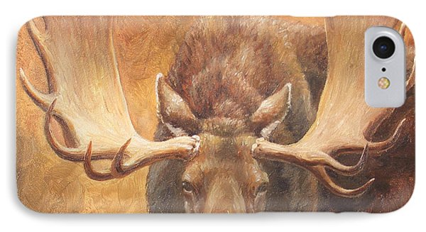 Bull Moose - Challenge IPhone Case by Crista Forest