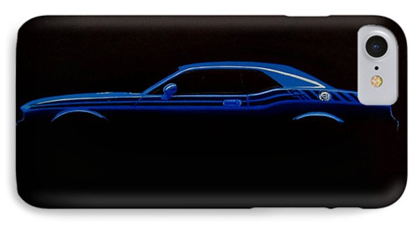 Challenger Silhouette Phone Case by Paul Kuras