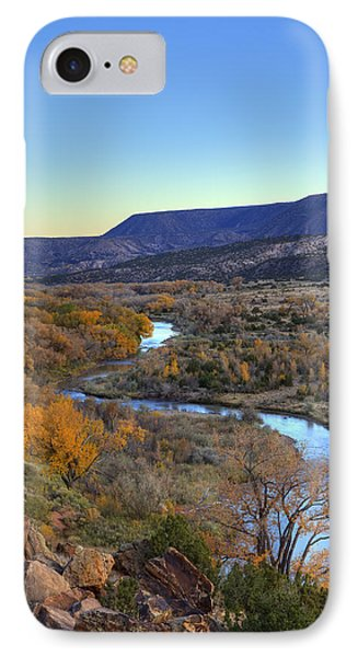 Chama River At Sunset IPhone Case