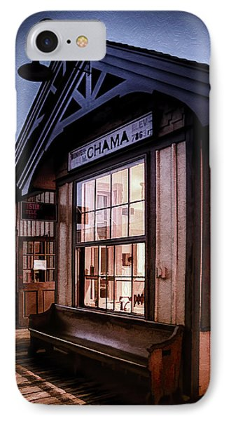 IPhone Case featuring the photograph Chama Train Station by Priscilla Burgers