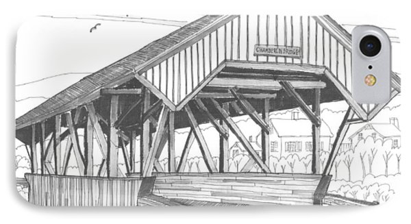 Chamberin Mill Covered Bridge IPhone Case