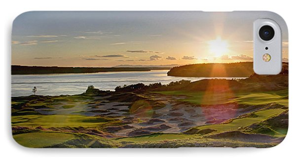 Chambers Bay Sun Flare - 2015 U.s. Open  IPhone Case by Chris Anderson