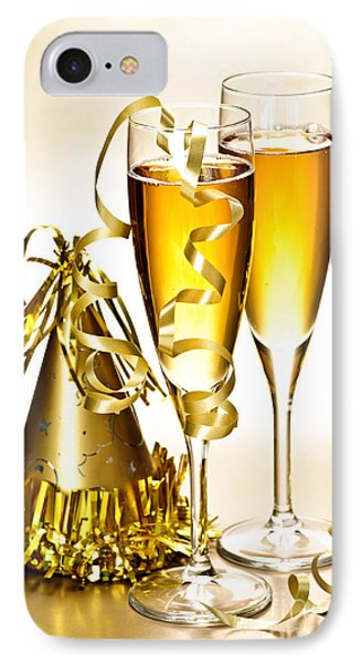 Champagne And New Years Party Decorations IPhone Case