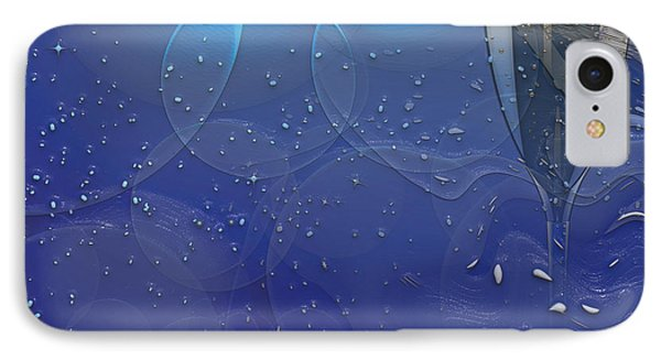 Champagne Blue  Phone Case by Liane Wright