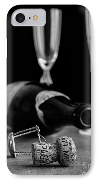 Champagne Bottle Still Life IPhone Case by Edward Fielding