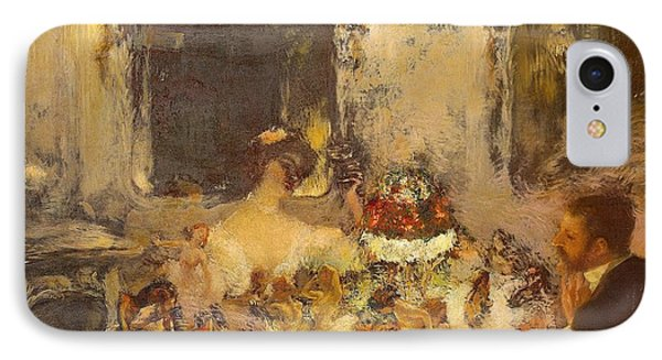 Champagne Phone Case by Gaston La Touche