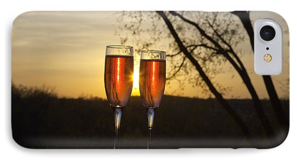 Champagne Sunset Phone Case by Kay Pickens