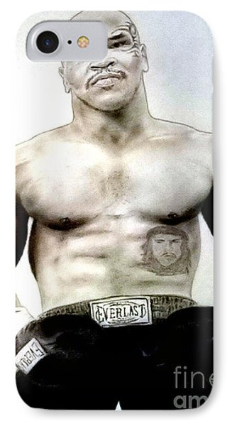 Champion Boxer And Actor Mike Tyson Phone Case by Jim Fitzpatrick