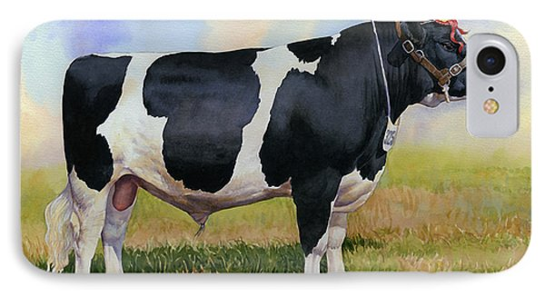 Champion Friesian Bull Phone Case by Anthony Forster