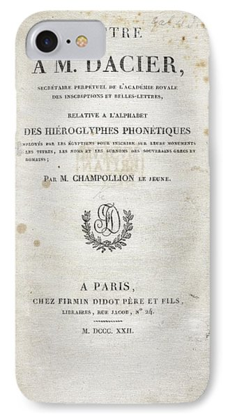 Champollion Letter On Hieroglyphics IPhone Case by British Library