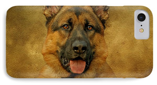 Chance - German Shepherd Phone Case by Sandy Keeton
