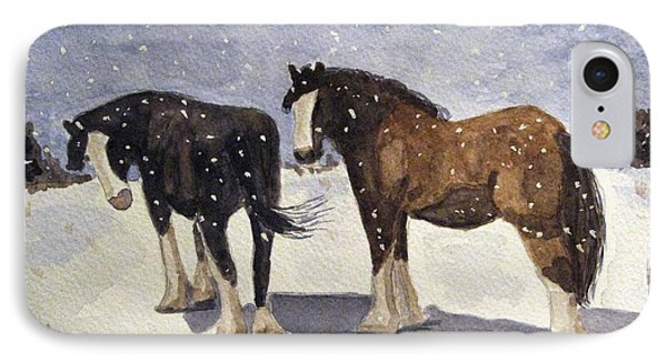 IPhone Case featuring the painting Chance Of Flurries by Angela Davies