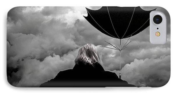 Chance Of Rain   Broken Umbrella Phone Case by Bob Orsillo