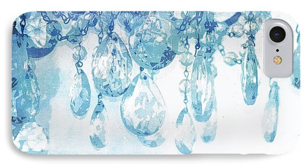 Chandelier Crystals In Blue IPhone Case